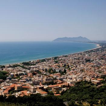 Terracina - Vista su San Felice Circeo